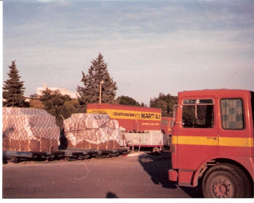 Confection de palettes pour cargo aérien