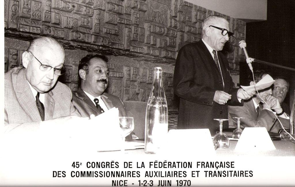 Congrés des transitaires à Nice organisé par A.CROZE avec à sa droite Jacques MEDECIN - Maire de Nice