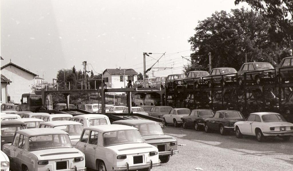 Gare de Cagnes sur Mer dans les années 70