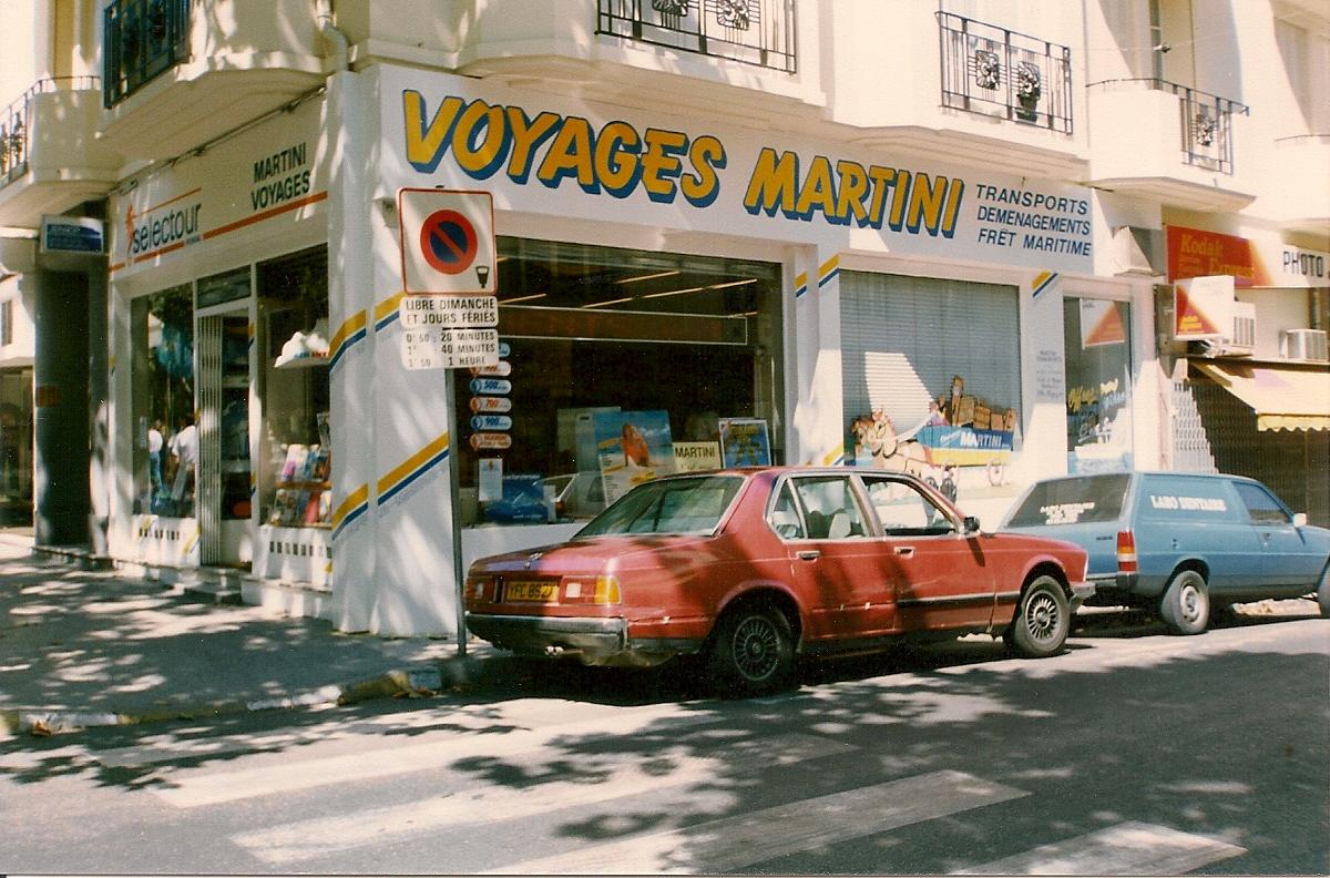 L'agence d'Antibes en 1990