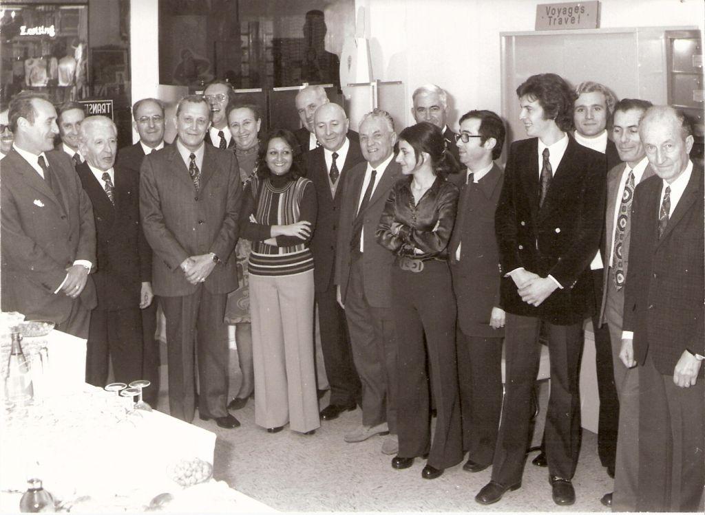 Lors inauguration des bureaux (au milieu Mme Berthe et Mr Pastorelli)