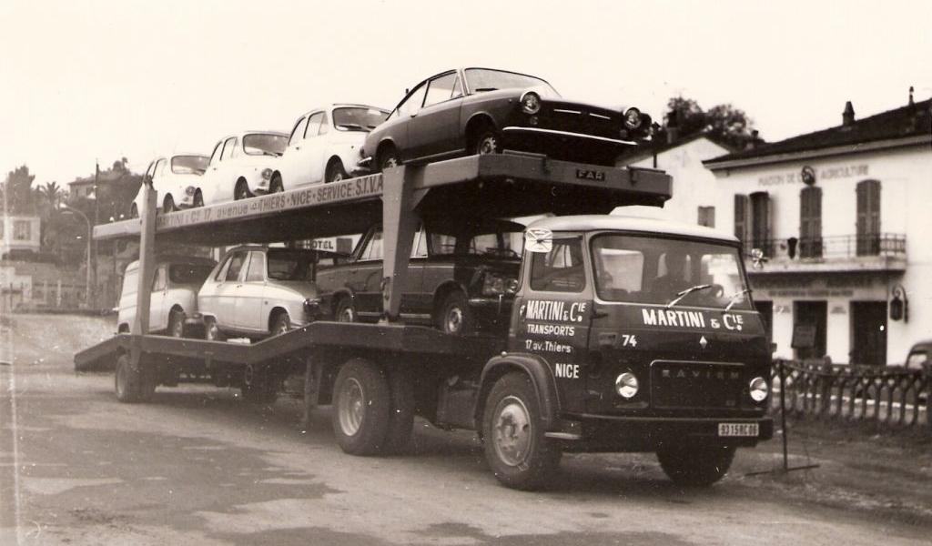 Porte voitures à Cagnes dans les années 60