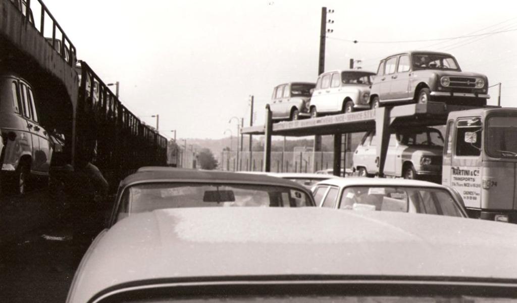 Porte voitures à Cagnes sur Mer dans les années 70