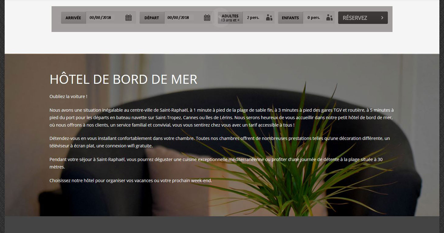 graphiste-nice-radhika-nouvel-hotel-page-d'acceuil-silder-hotel